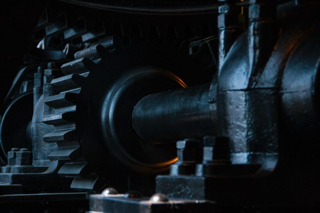 gears symbolizing processes followed by machines