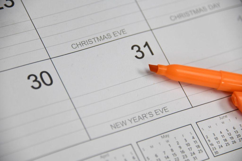 Calendar with a highligher