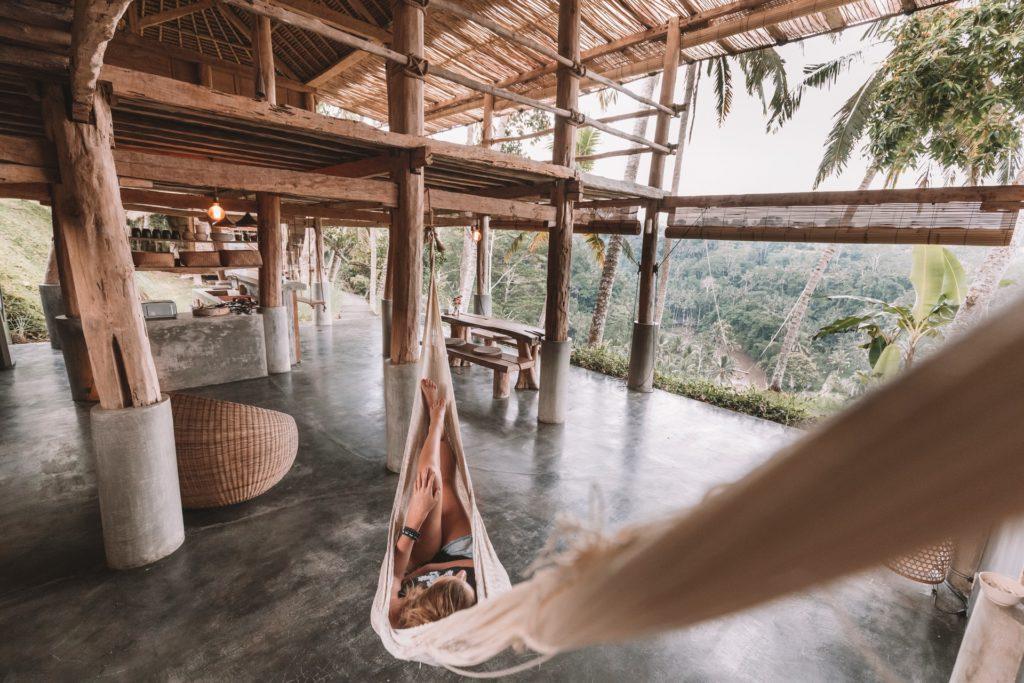 embrace boredom in a hammock