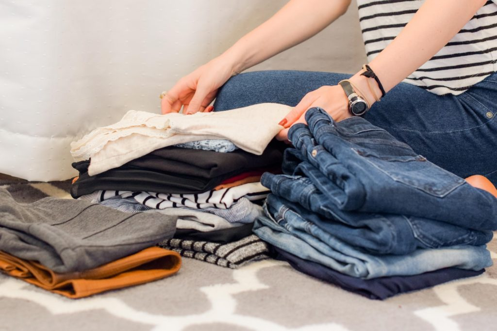 organizing and folding your clothes