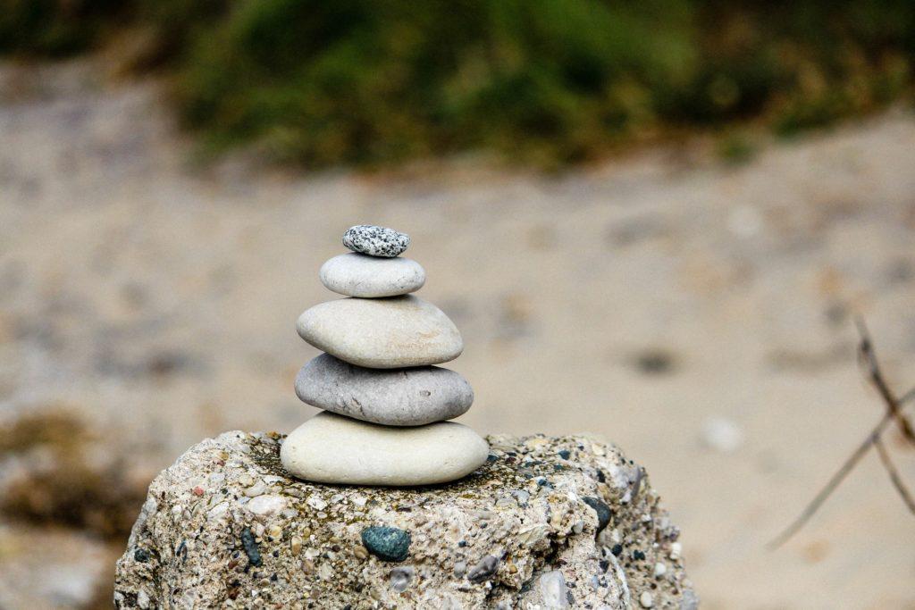 rocks piled high