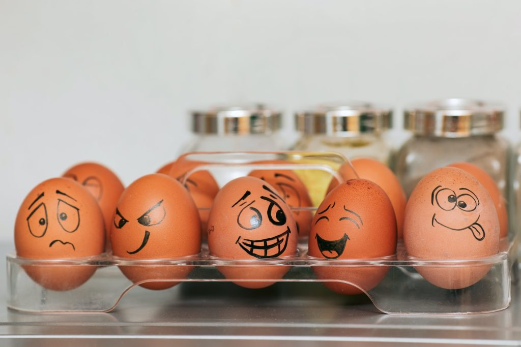 emotions portrayed on eggs