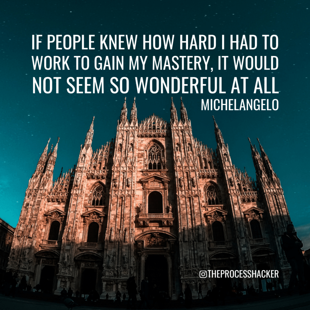 Michelangelo quote for mastery