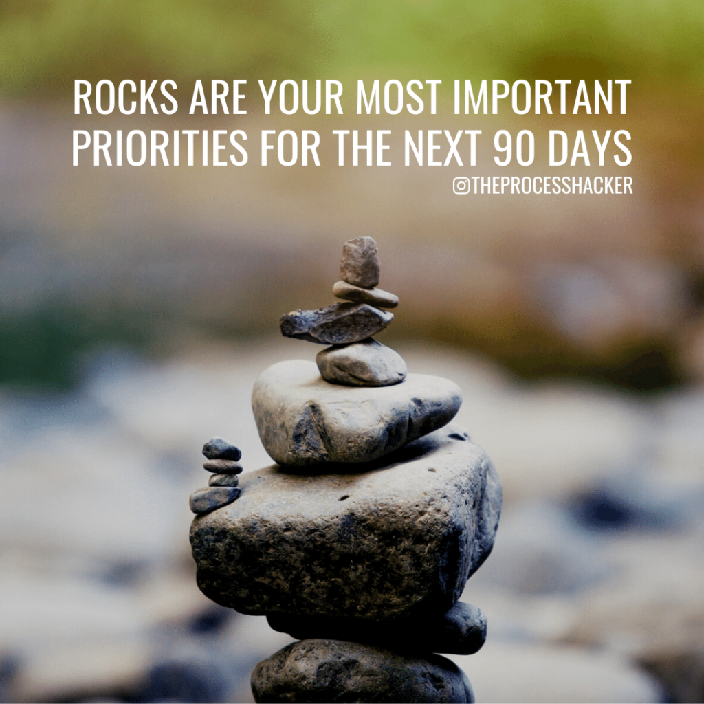 rocks are your most important priorities