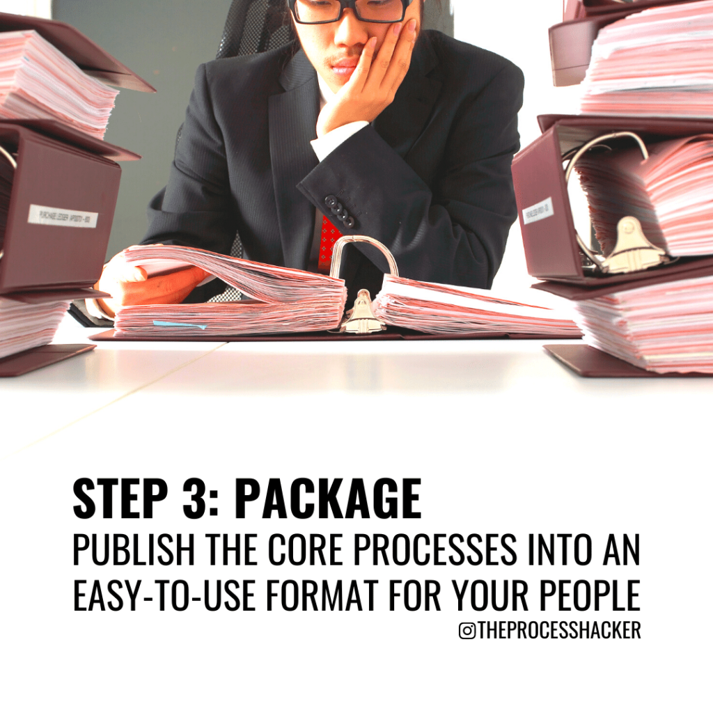 package your core processes into an easy-to-use format for your people